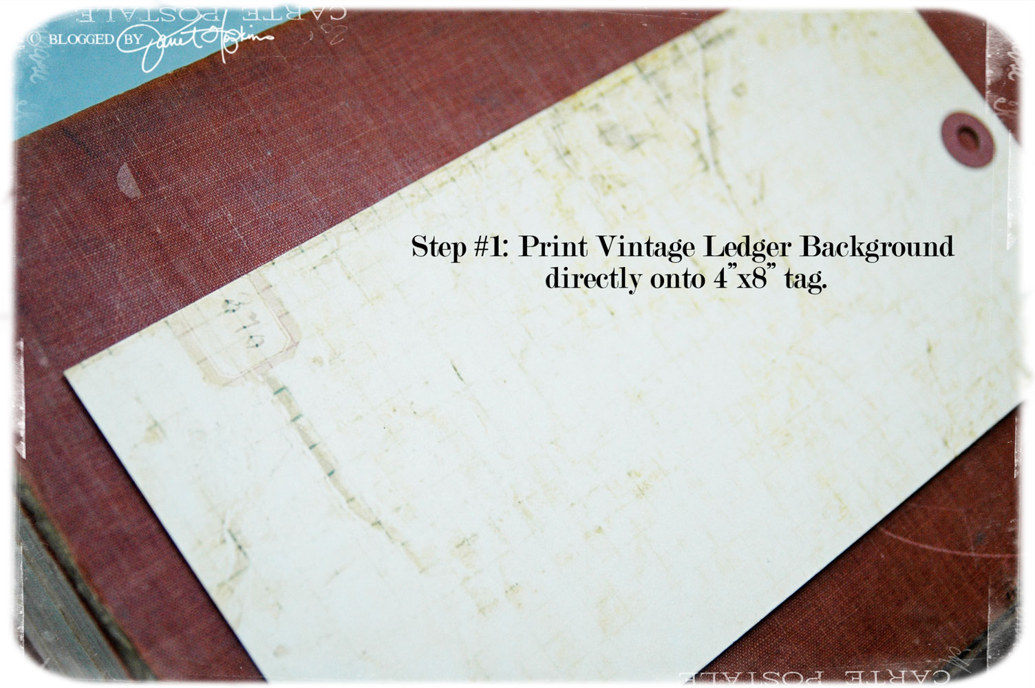 it's all in the details: The Tim Holtz Grid Blocks and a Tag